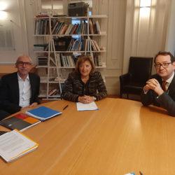 Rencontre de Yves Le Breton, Commissaire général à l'égalité des territoires, avec Jeanine DUBIE, secrétaire générale de l'ANEM le 11 décembre